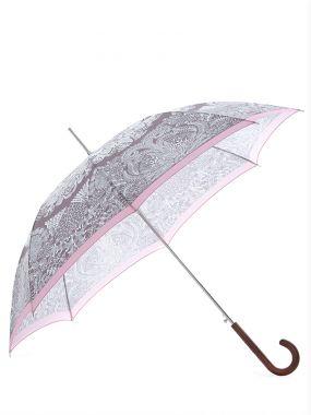 Зонт-трость складной с принтом