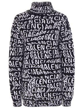 Шерстяной свитер Logo Wave