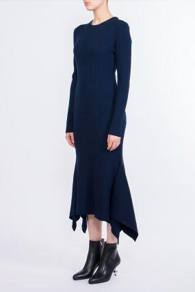 Синее платье–годе