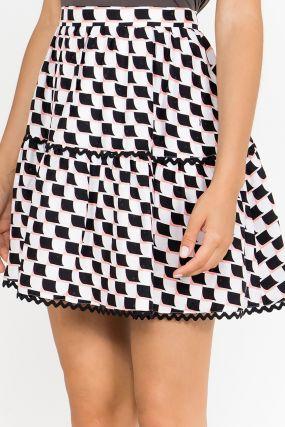 Пышная мини–юбка с узором