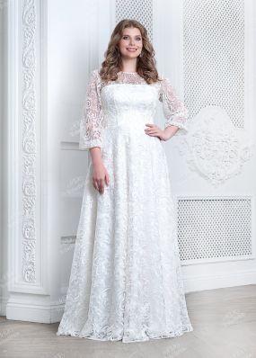 Длинное свадебное платье из кружева TB073 o