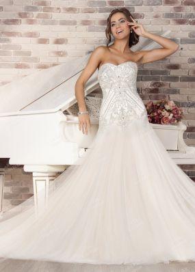 Свадебное платье-русалка с декольте MJ170 o