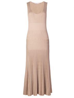 Трикотажное платье-макси