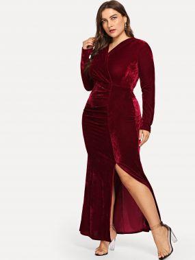 Большое Velvet платье и подол с вырезом