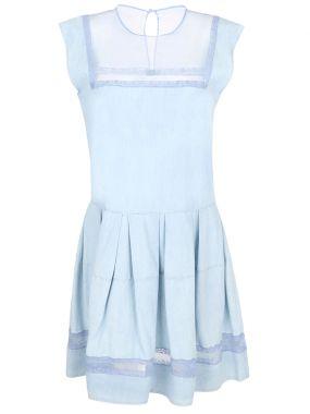 Платье с кружевом-шитьем