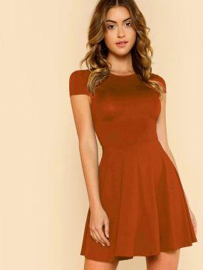 Платье-клёш с открытой спиной