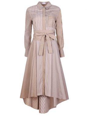 Платье из поплина в полоску
