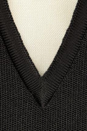 Платье-мини из джерси с сеткой