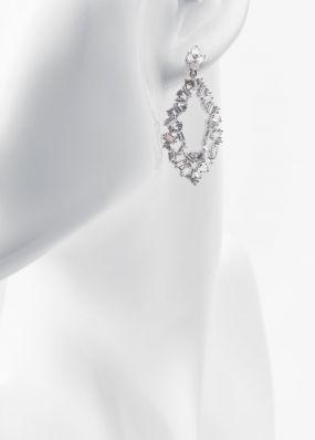 Серьги с кристаллами 853