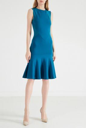 Бирюзовое платье с юбкой-годе