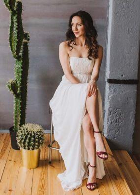 Свадебное платье в греческом стиле NPV010
