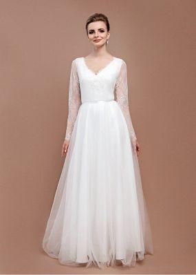 Свадебное платье с фатиновой юбкой ZEL015