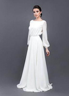 Свадебное платье с пышными рукавами ZEL001