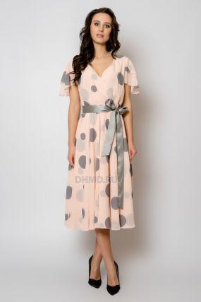 Платье POZA Элизабет ROZ GROCH 1639  цвет розовый пудровый