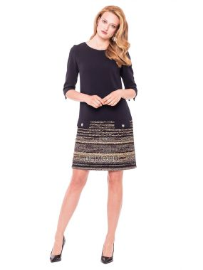 Платье LAME DE FEMME Жаклин 3A0L-J8 цвет черный-бежевый