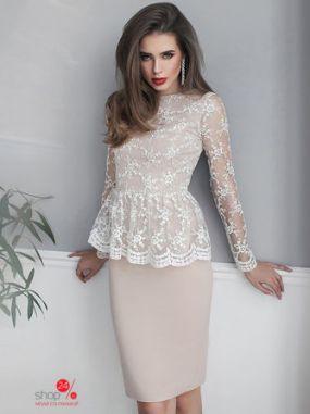 Платье Oksi Dress, цвет бежевый