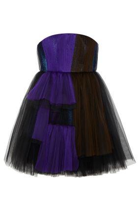 Платье из драпированной сетки