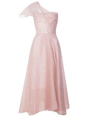 Шелковое платье на одно плечо