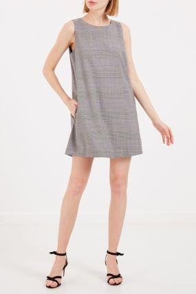 Клетчатое платье-сарафан