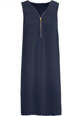 Трикотажное платье с молнией
