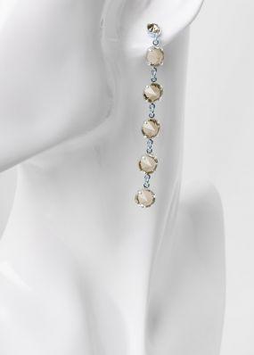 Серьги из серых кристаллов swarovski 02503Se