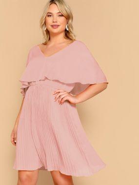 Платье размера плюс с оригинальным рукавом