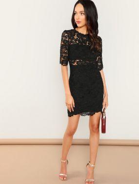 Твердое кружевное платье
