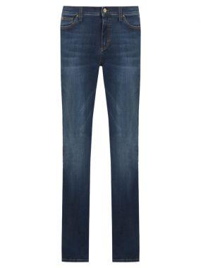 Хлопковые джинсы-клеш