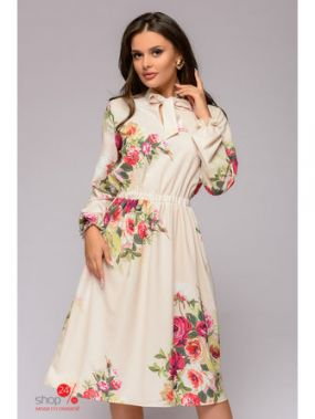 Платье 1001 DRESS, цвет молочный