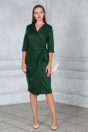 Платье халат из трикотажа без пояса