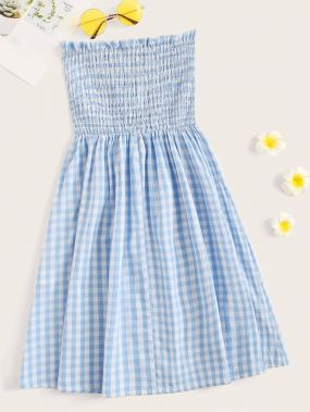 Расклешенное платье размера плюс со складкой
