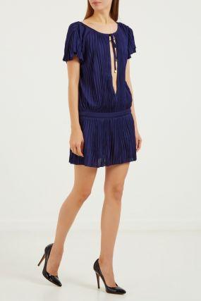 Короткое плиссированное платье