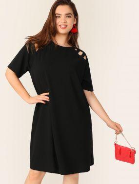 Размер плюс платье с рукавом регланом