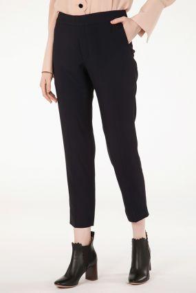 Темно-синие укороченные брюки