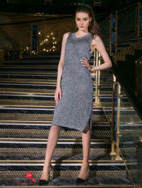 Платье MINAKU, цвет серебряный