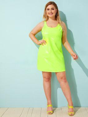 Платье из искусственной кожи размера плюс