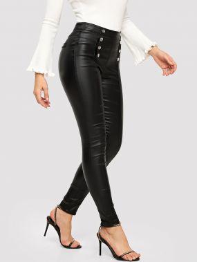 Двубортные обтягивающие джинсы