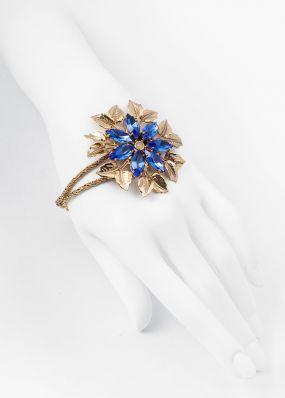 Серьги с синими кристаллами Claudio Canzian 002.04.163