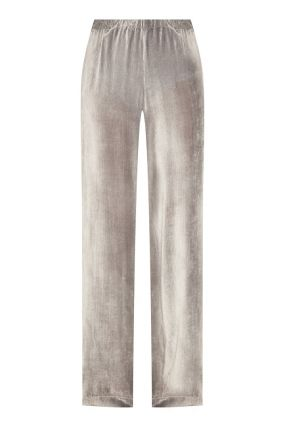 Серые брюки с шелком
