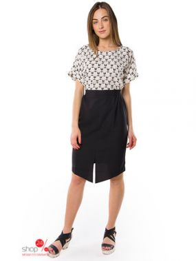 Платье MR520, цвет черный, белый