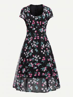 Платье с шифоновым шифоном
