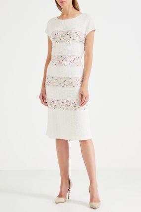 Фактурное розовое платье