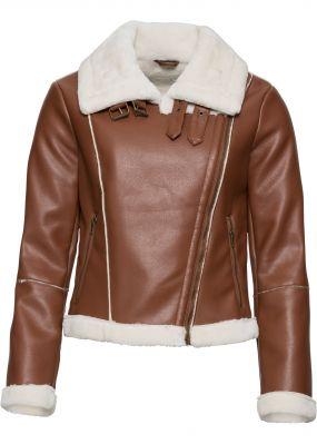Куртка байкерская с искусственным мехом