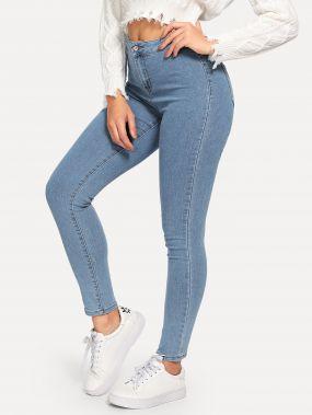 Однотонные обтягивающие джинсы