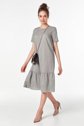 Летнее платье с воланом