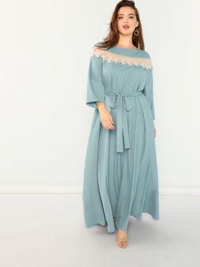 Плюс размеры аппликация цветы платье