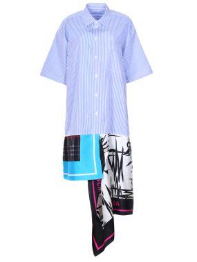 Платье-туника в полоску и принт