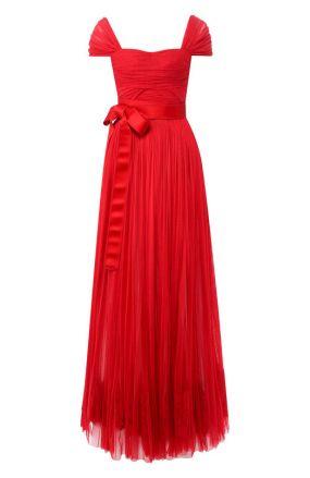 Шелковое платье-макси с поясом Dolce & Gabbana