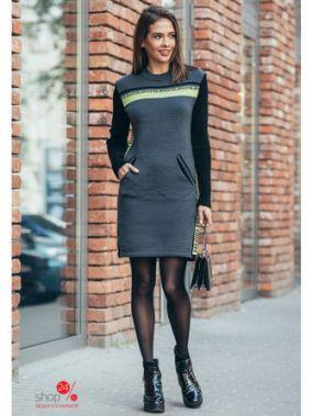 Платье GUASH, цвет темно-серый, салатовый, черный
