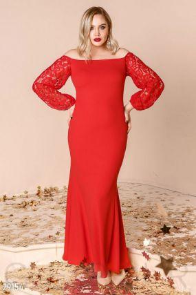 Гипюровое платье-мииди